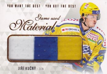jersey karta JIŘÍ KUČNÝ 18-19 OFS You Want the Best Game Used Material /21