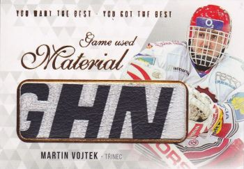 stick karta MARTIN VOJTEK 18-19 OFS You Want the Best Game Used Material /21