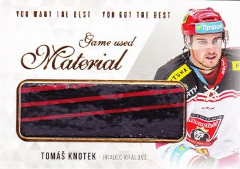 stick karta TOMÁŠ KNOTEK 18-19 OFS You Want the Best Game Used Material /21