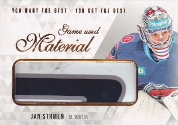stick karta JAN STRMEŇ 18-19 OFS You Want the Best Game Used Material /21