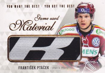 stick karta FRANTIŠEK PTÁČEK 18-19 OFS You Want the Best Game Used Material /21