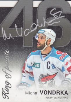 AUTO karta MICHAL VONDRKA 17-18 OFS Classic Ser. 2 King of Points Autograph /7