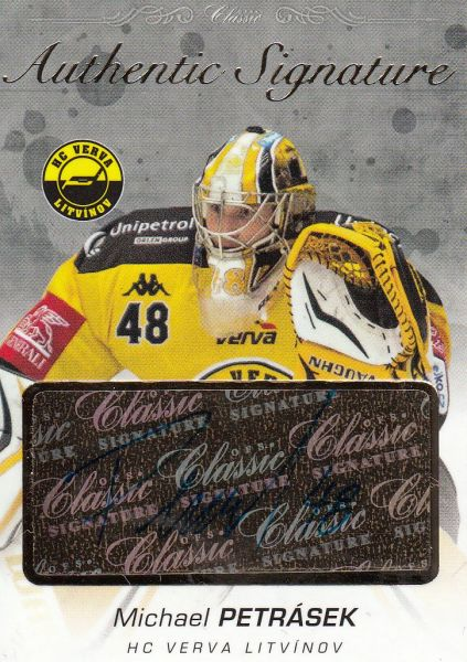 AUTO karta MICHAEL PETRÁSEK 17-18 OFS Classic Ser. 1 Authentic Signature Gold /6