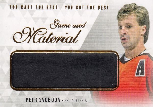 glove karta PETR SVOBODA 18-19 OFS You Want the Best Game Used Material /21