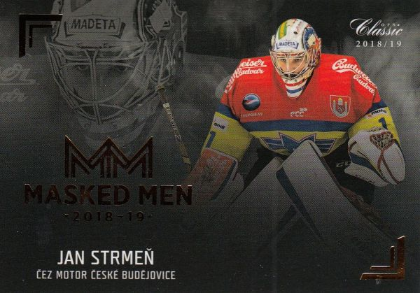 insert karta JAN STRMEŇ 18-19 OFS Chance Liga Masked Men číslo MM06