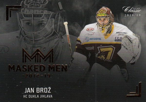 insert karta JAN BROŽ 18-19 OFS Chance Liga Masked Men číslo MM01