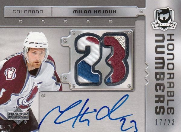 AUTO patch karta MILAN HEJDUK 08-09 UD The Cup Honorable Numbers /23