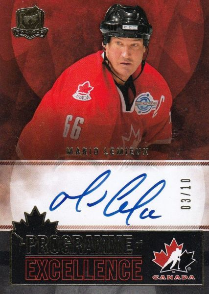 AUTO karta MARIO LEMIEUX 12-13 UD The Cup Programme of Excellence /10