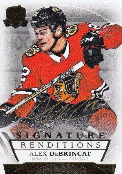 AUTO RC karta ALEX DeBRINCAT 17-18 UD The Cup Signature Renditions číslo SR-AB