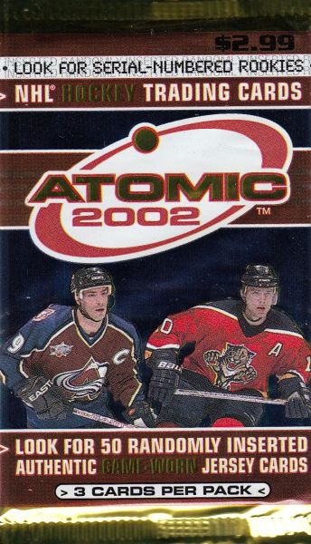 2001-02 Pacific Atomic Hockey Retail Balíček