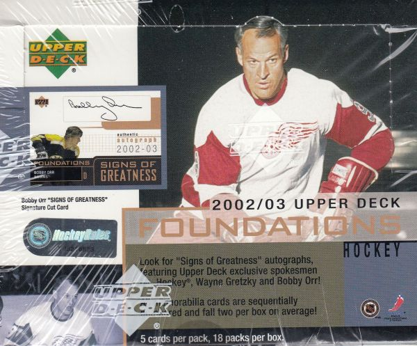 2002-03 UD Foundations Hockey Hobby Box
