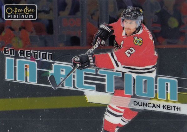 insert karta DUNCAN KEITH 18-19 OPC Platinum In Action číslo IA-13