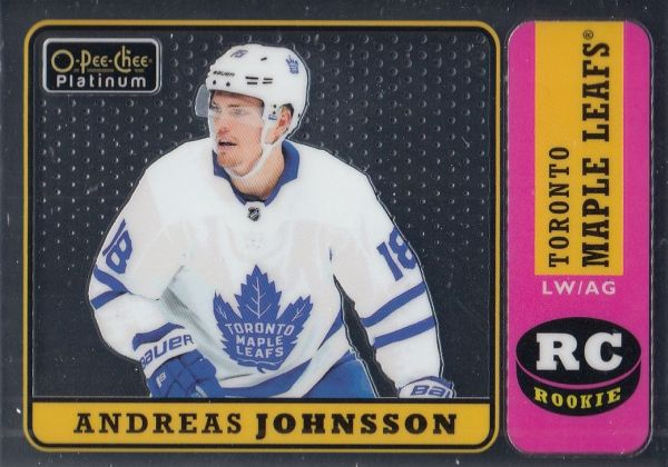 insert RC karta ANDREAS JOHNSSON 18-19 OPC Platinum Rookie Retro číslo R-98