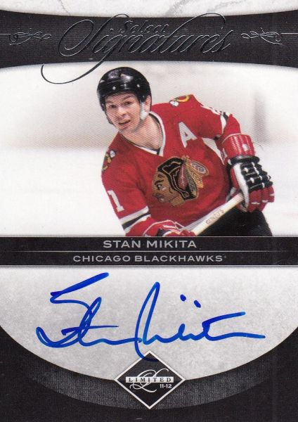 AUTO karta STAN MIKITA 11-12 Limited Select Signatures /97