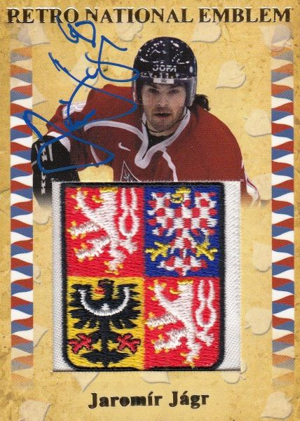 AUTO patch karta JAROMÍR JÁGR 2011 Retro National Emblem /10