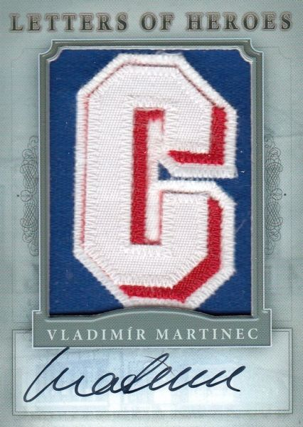 AUTO patch karta VLADIMÍR MARTINEC 11-12 Winners Take All Letters of Heroes /3