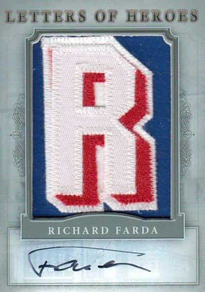 AUTO patch karta RICHARD FARDA 11-12 Winners Take All Letters of Heroes /3