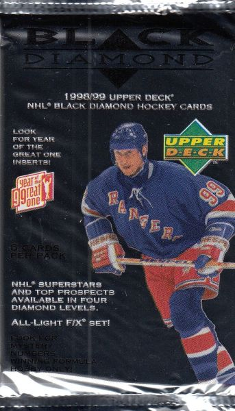 1998-99 UD Black Diamond Hockey Hobby Balíček