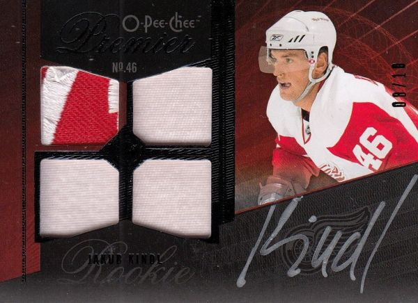 AUTO patch RC karta JAKUB KINDL 09-10 OPC Premier Rookie Black /10