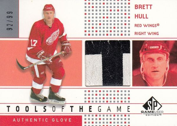 glove karta BRETT HULL 02-03 SPGU Tools of the Game /99