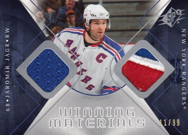 jersey patch karta JAROMÍR JÁGR 07-08 SPx Winning Materials Spectrum /99