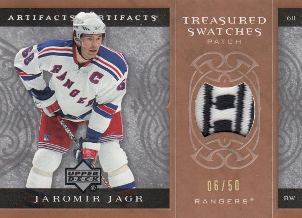 patch karta JAROMÍR JÁGR 07-08 Artifacts Treasured Swatches Bronze /50