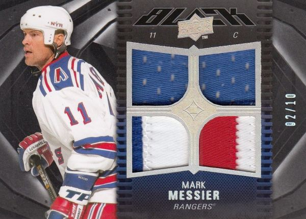 jersey patch karta MARK MESSIER 09-10 UD Black Gold /10