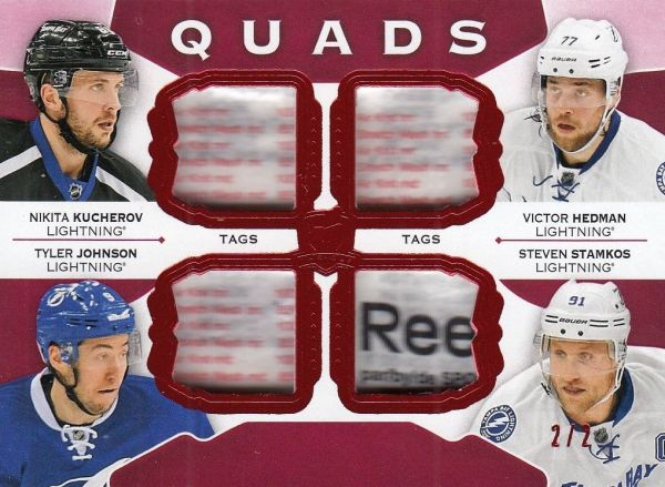 tag karta KUCHEROV/HEDMAN/JOHNSON 15-16 UD The CUP Quads /2