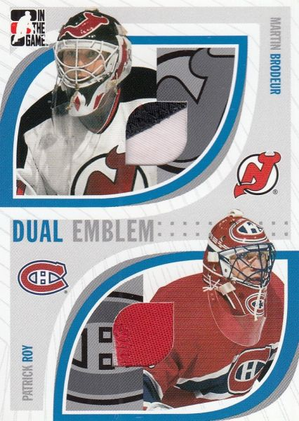 patch karta BRODEUR/ROY 05-06 ITG Passing the Torch Dual Emblem /20