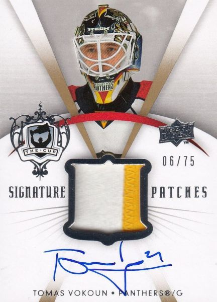 AUTO patch karta TOMÁŠ VOKOUN 07-08 UD The Cup Signature Patches /75