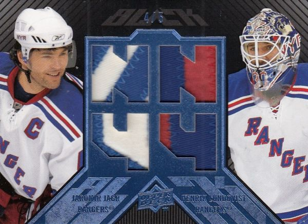 patch karta JÁGR/LUNDQVIST 08-09 UD Black Blue /5