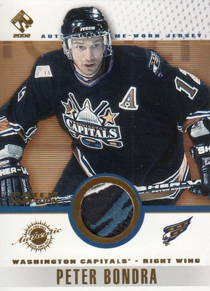 patch karta PETER BONDRA 01-02 Private Stock Game Use Gear číslo 99