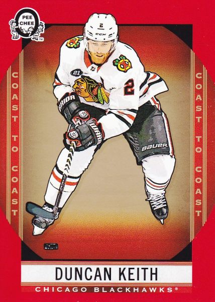 paralel karta DUNCAN KEITH 18-19 OPC Coast to Coast Red číslo 82