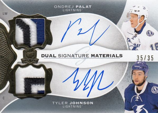 AUTO patch karta PALÁT/JOHNSON 16-17 UD The Cup Signature Materials Dual /35