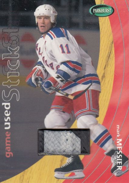 stick karta MARK MESSIER 01-02 Parkhurst Game Used Stick /90