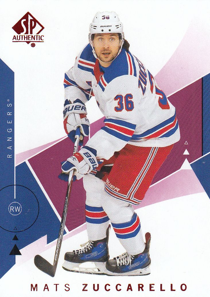 paralel karta MATS ZUCCARELLO 18-19 SP Authentic Limited Red číslo 92