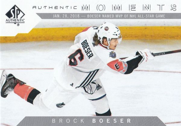 insert karta BROCK BOESER 18-19 SP Authentic Authentic Moments číslo 102
