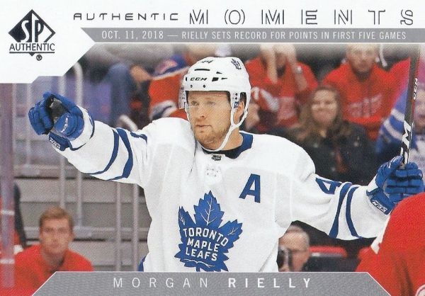 insert karta MORGAN RIELLY 18-19 SP Authentic Authentic Moments číslo 111