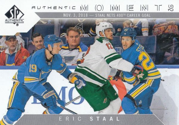insert karta ERIC STAAL 18-19 SP Authentic Authentic Moments číslo 115