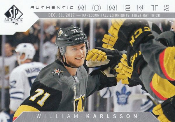 insert karta WILLIAM KARLSSON 18-19 SP Authentic Authentic Moments číslo 101