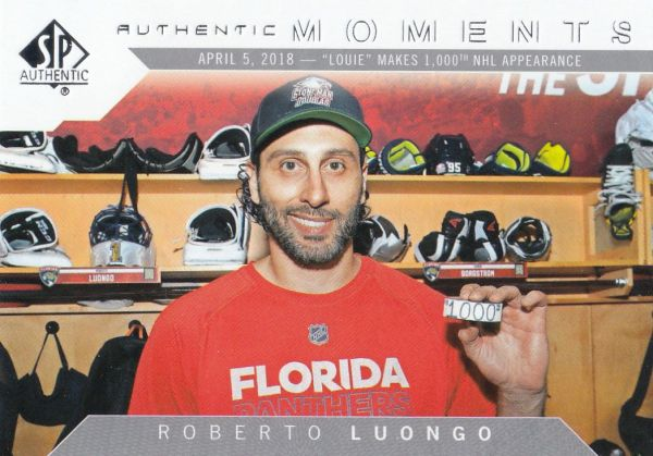 insert karta ROBERTO LUONGO 18-19 SP Authentic Authentic Moments číslo 106