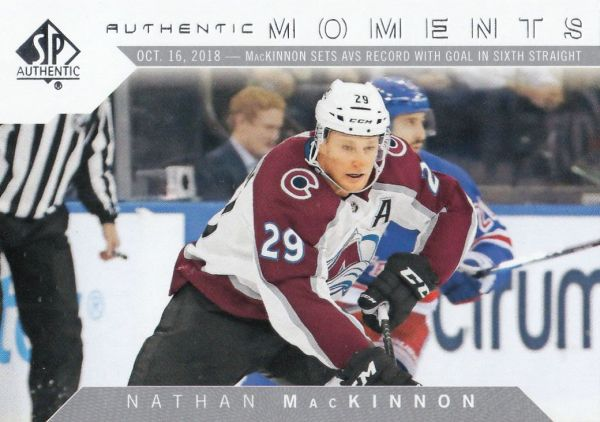 insert karta NATHAN MacKINNON 18-19 SP Authentic Authentic Moments číslo 112