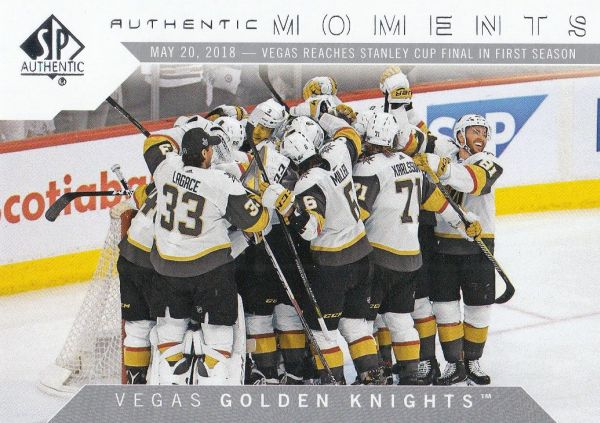 insert karta VEGAS GOLDEN KNIGHTS 18-19 SP Authentic Authentic Moments číslo 107