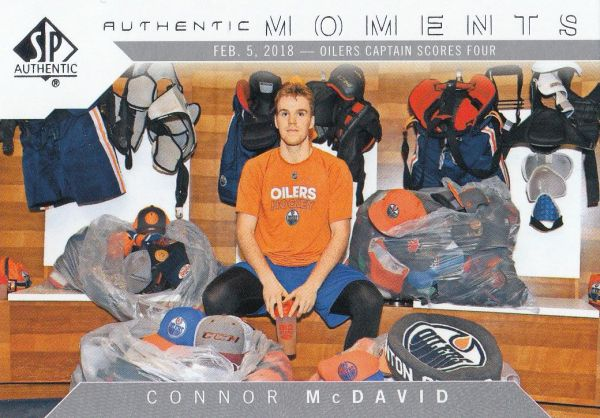 insert karta CONNOR McDAVID 18-19 SP Authentic Authentic Moments číslo 103