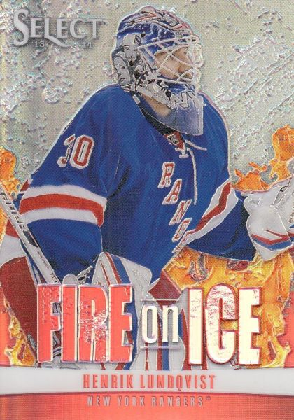 insert karta HENRIK LUNDQVIST 13-14 Select Fire on Ice Prizm /25