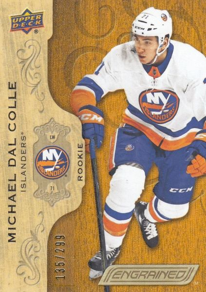 insert RC karta MICHAEL DAL COLLE 18-19 Engrained Rookie /299