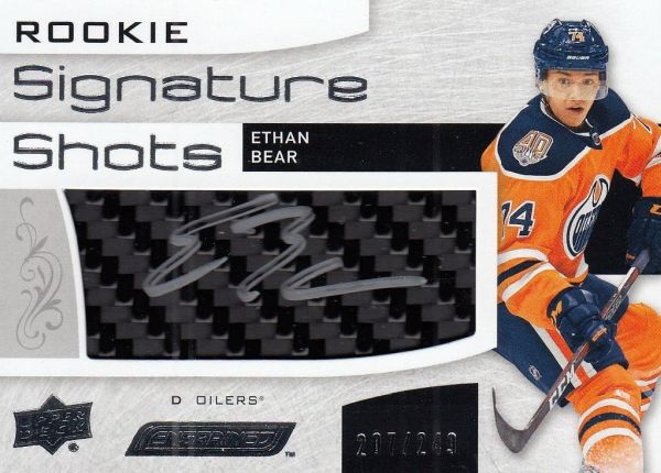 AUTO stick RC karta ETHAN BEAR 18-19 Engrained Rookie Signature Shots /249
