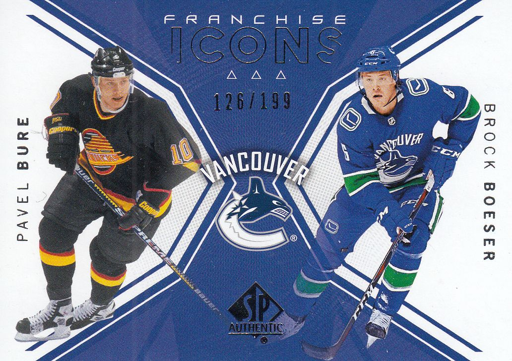 insert karta BURE/BOESER 18-19 SP Authentic Franchiese Icons /199
