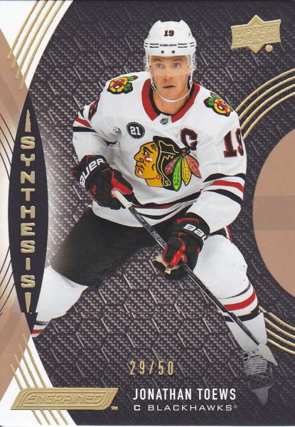 insert karta JONATHAN TOEWS 18-19 Engrained Synthesis Grip Parallel /50