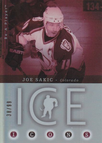 insert karta JOE SAKIC 05-06 BAP Ice Icons /99
